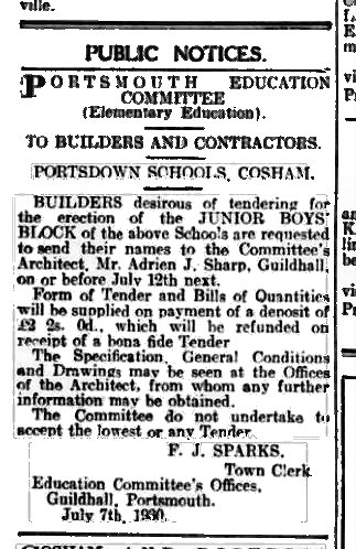 portsdown8-7-1930news
